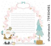 christmas cards to scrapbook.... | Shutterstock .eps vector #759304081