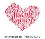 texts thank you in the shape of ... | Shutterstock .eps vector #759304147
