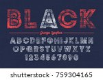 extra bold vector decorative... | Shutterstock .eps vector #759304165