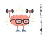 brain training vector... | Shutterstock .eps vector #759308947