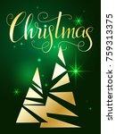 christmas lettering. hand... | Shutterstock .eps vector #759313375
