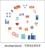 icons for smm and it in the... | Shutterstock .eps vector #759315919