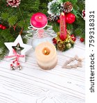 christmas background with a... | Shutterstock . vector #759318331