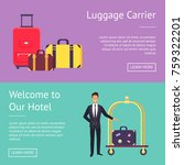 welcome to our hotel and... | Shutterstock .eps vector #759322201