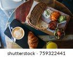 soft focus top view of...   Shutterstock . vector #759322441