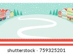 snowy wintertime park poster...   Shutterstock .eps vector #759325201