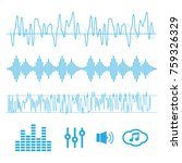 sound waves vector. sound waves ... | Shutterstock .eps vector #759326329