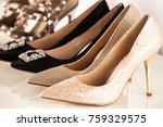 background with beautiful shoes ... | Shutterstock . vector #759329575