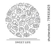 cakes and cookies theme...   Shutterstock .eps vector #759331825