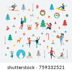 new year pattern of happy... | Shutterstock .eps vector #759332521
