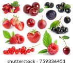 fruits. collection of berries... | Shutterstock . vector #759336451
