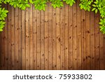 Old Grunge Wood Texture With...