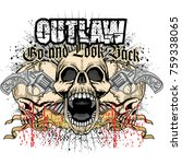 gothic coat of arms with skull  ...   Shutterstock .eps vector #759338065