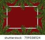 new year christmas. green... | Shutterstock .eps vector #759338524