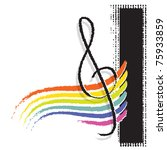 g clef symbol with a rainbow | Shutterstock .eps vector #75933859