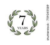 seven year anniversary with... | Shutterstock .eps vector #759345589