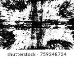 grunge black and white pattern. ... | Shutterstock . vector #759348724
