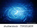 2d illustration technology... | Shutterstock . vector #759351859