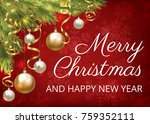merry christmas greeting card... | Shutterstock .eps vector #759352111
