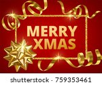 merry christmas white... | Shutterstock . vector #759353461