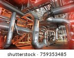 equipment  cables and piping as ... | Shutterstock . vector #759353485