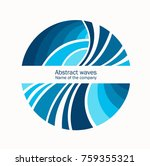 water wave logo abstract design.... | Shutterstock .eps vector #759355321