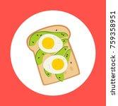avocado and egg toast... | Shutterstock .eps vector #759358951