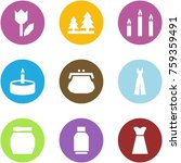 origami corner style icon set   ... | Shutterstock .eps vector #759359491