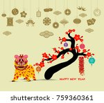oriental happy chinese new year ... | Shutterstock . vector #759360361