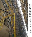 steel frame construction  steel ... | Shutterstock . vector #759363325