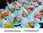 ready meal  a donation to the... | Shutterstock . vector #759365029