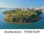 Small photo of Island of Isla-del-Ray and city. Maon, Menorca, Spain