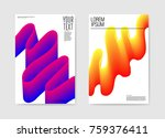 abstract poster wavy background.... | Shutterstock .eps vector #759376411