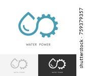 water power logo   drop of... | Shutterstock .eps vector #759379357