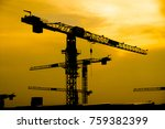 silhouette industrial of tower... | Shutterstock . vector #759382399