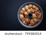 monkey bread with caramel and... | Shutterstock . vector #759383314