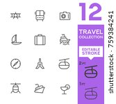 travel collection. editable... | Shutterstock .eps vector #759384241