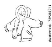 anorak jacket isolated on white ... | Shutterstock .eps vector #759385741