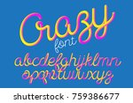 crazy color 3d alphabet vector... | Shutterstock .eps vector #759386677