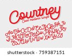 courtney cool and modern script ... | Shutterstock .eps vector #759387151
