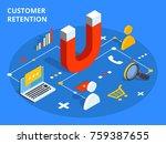 customer retention or loyalty... | Shutterstock . vector #759387655