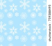 pattern with snowflakes | Shutterstock .eps vector #759388495