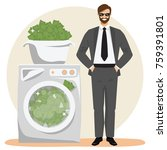 money laundering concept vector ... | Shutterstock .eps vector #759391801