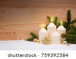 christmas decoration for advent ... | Shutterstock . vector #759392584