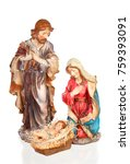 scene of the nativity  mary ... | Shutterstock . vector #759393091