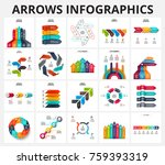 vector arrows infographics... | Shutterstock .eps vector #759393319