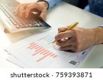 office clerk working with... | Shutterstock . vector #759393871