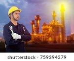 technician man with industrial... | Shutterstock . vector #759394279