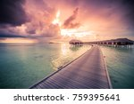 dramatic sky and sea in a... | Shutterstock . vector #759395641