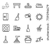 thin line icon set   chemical... | Shutterstock .eps vector #759396679